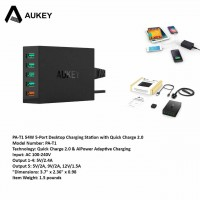 Aukey PA-T1 54W 5-Port Desktop Charging Station Quick Charge 2.0